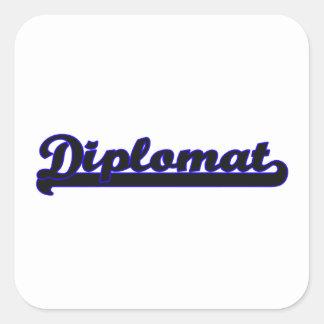 Diplomat Classic Job Design Square Sticker