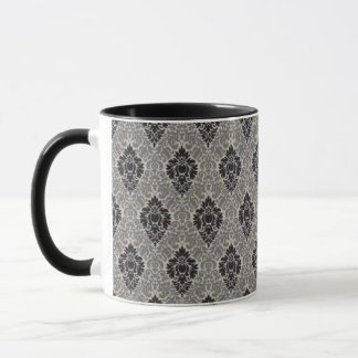 Diplomatic Damask Gray Mug