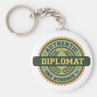Diplomático auténtico llavero redondo tipo pin