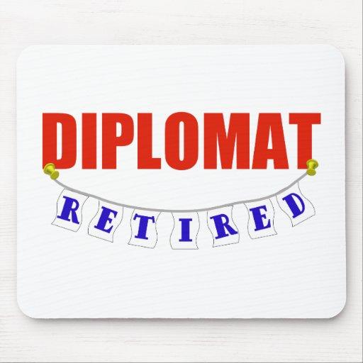 Diplomático jubilado tapetes de raton