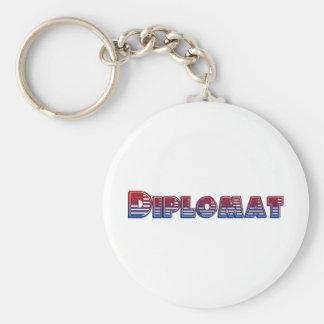Diplomático Llavero Redondo Tipo Pin