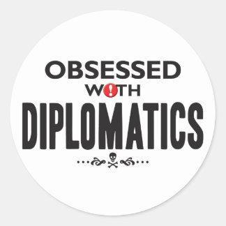 Diplomatics obsesionó etiqueta redonda