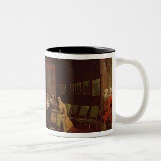 Diplomats Meeting (oil on canvas) Two-Tone Coffee Mug