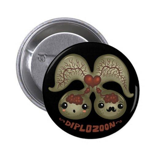 Diplozoon paradoxum 2 inch round button