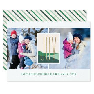 Dipped Joy Holiday Card - Pine