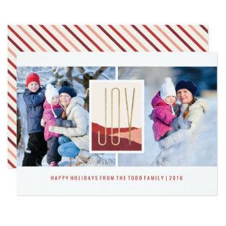 Dipped Joy Holiday Card - Plum