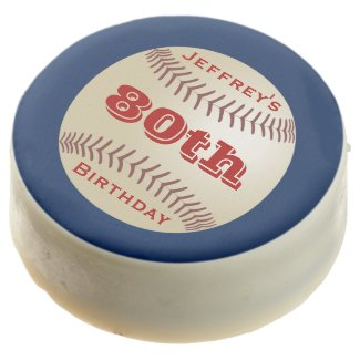 Dipped Oreos, Baseball 80th Birthday Party Favors