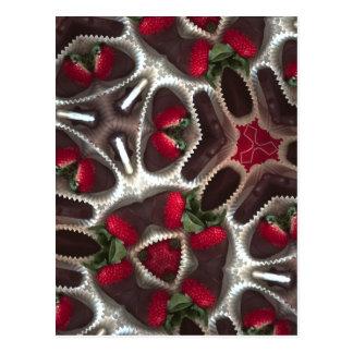 Dipped strawberries postcard