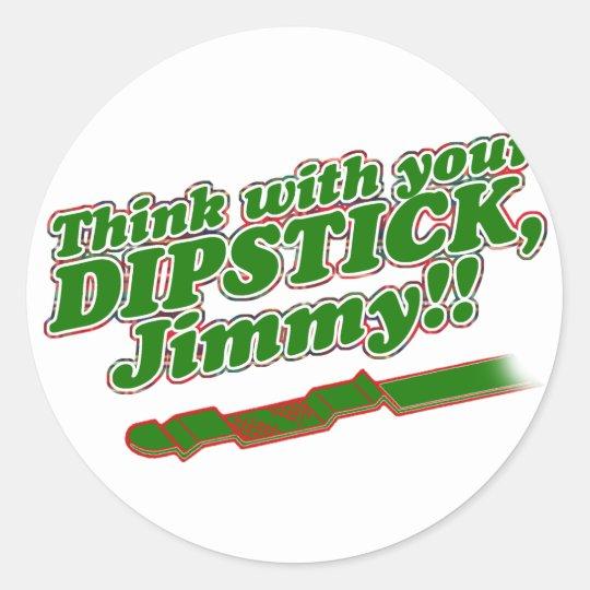 Dipstick Classic Round Sticker