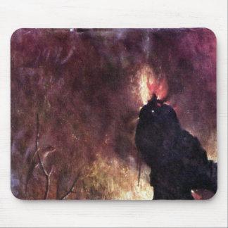Díptica con escenas del infierno tapete de ratón