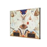 Díptica con las flores y los insectos, 1591 impresión en lienzo estirada