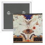 Díptica con las flores y los insectos, 1591 pin cuadrado