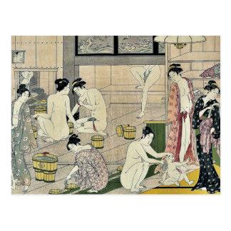 Díptica de las mujeres de la casa de baños por Tor Tarjeta Postal