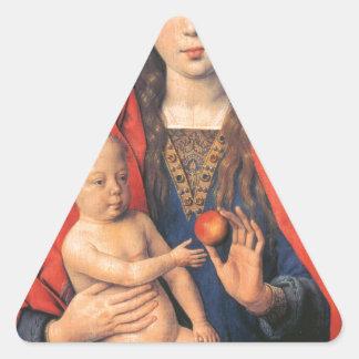 Díptica de Maarten Van Nieuwenhove. Hans Memling, Pegatina Triangular
