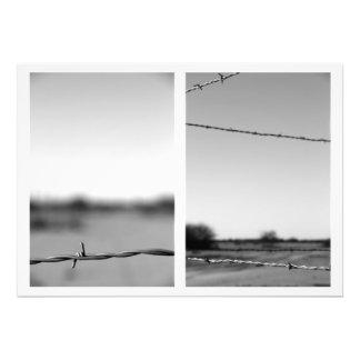 Díptica del alambre de púas fotografías