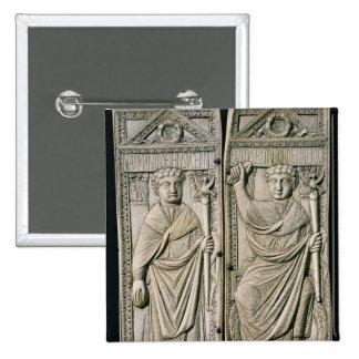 Díptica del cónsul de Boethius en el ANUNCIO 487 Pin Cuadrada 5 Cm