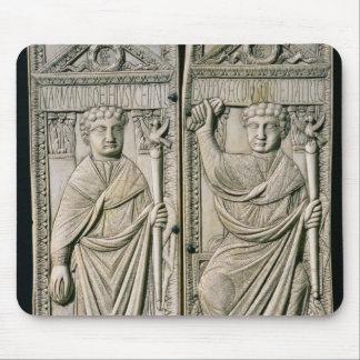 Díptica del cónsul de Boethius en el ANUNCIO 487 Tapete De Ratones