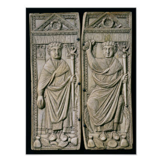 Diptych of Boethius  Consul in 487 AD Poster