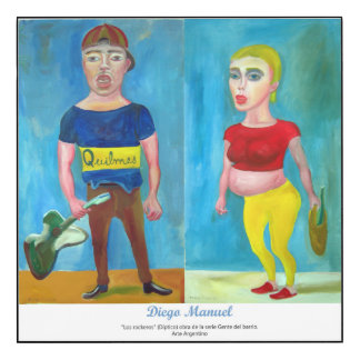 """Diptych """"the rockers"""" by Diego Manuel. Wood Print"""