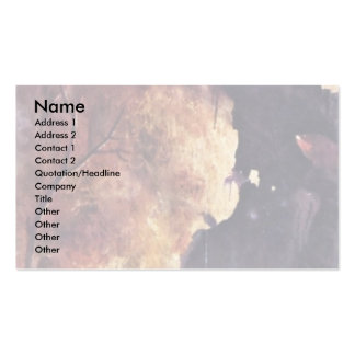 Diptych With Scenes Of Hell. By Hieronymus Bosch Double-Sided Standard Business Cards (Pack Of 100)