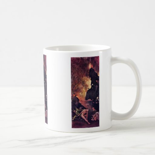 Diptych With Scenes Of Hell. By Hieronymus Bosch Mug