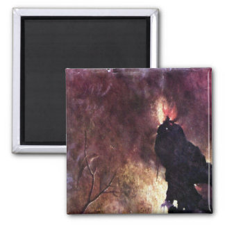 Diptych with scenes of Hell Magnet