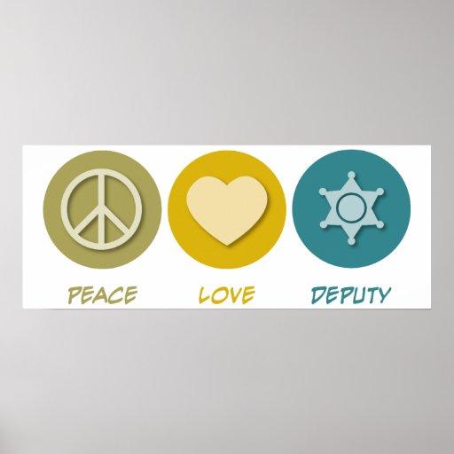 Diputado del amor de la paz póster