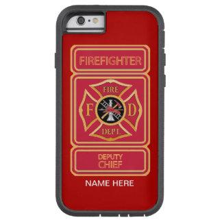 Diputado jefe de bomberos funda de iPhone 6 tough xtreme