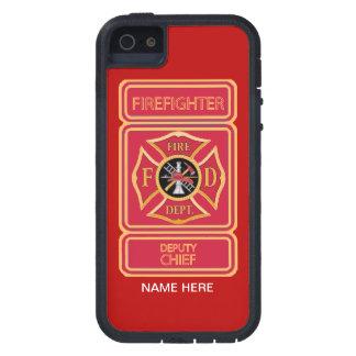 Diputado jefe de bomberos iPhone 5 carcasas