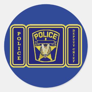 Diputado jefe de policía pegatina redonda