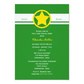 """Diputado Police Graduation Invitations Forest Invitación 5"""" X 7"""""""