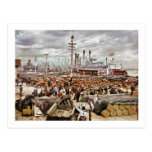 Dique en el Canal Street New Orleans 1900 Tarjetas Postales