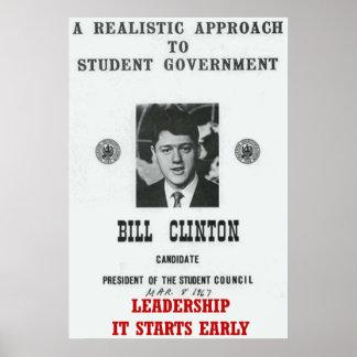 Dirección Bill Clinton en la universidad de George Póster