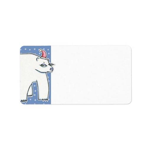 Dirección blanca azul de la etiqueta del regalo de etiquetas de dirección