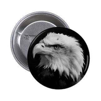 Dirección blanca negra de American Eagle de Pin Redondo De 2 Pulgadas