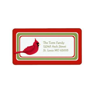 Dirección caprichosa cardinal del navidad etiqueta de dirección