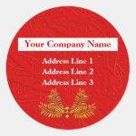 Dirección comercial personalizada rojo Lables Etiqueta