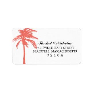 Dirección coralina de la palmera el | etiqueta de dirección