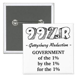 dirección de 99%r Gettysburg Pin Cuadrado