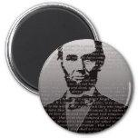 Dirección de Abraham Lincoln Gettysburg Imanes