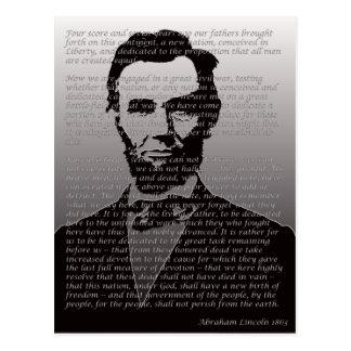 Dirección de Abraham Lincoln Gettysburg Postales