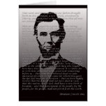 Dirección de Abraham Lincoln Gettysburg Tarjeta De Felicitación