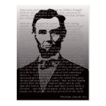 Dirección de Abraham Lincoln Gettysburg Tarjetas Postales