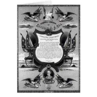 Dirección de despedida de general Roberto E. Lee Tarjeta De Felicitación
