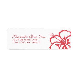 Dirección de encargo del caqui y de las flores bla etiquetas de remite
