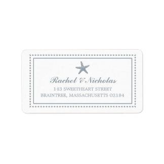 Dirección de envío agraciada de las estrellas de etiqueta de dirección