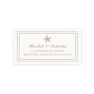 Dirección de envío agraciada de las estrellas de m etiquetas de dirección