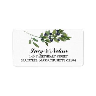 Dirección de envío verde oliva de la huerta el | etiquetas de dirección