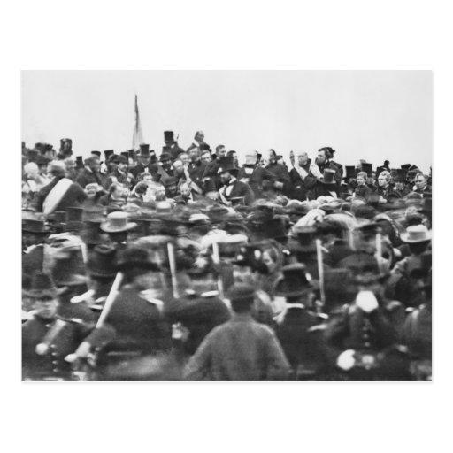 Dirección de Gettysburg, Abraham Lincoln Tarjetas Postales