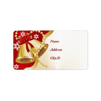 Dirección de la etiqueta de Belces de navidad Etiquetas De Dirección